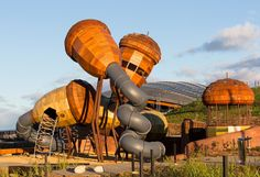 The new Pod Playground at the National Arboretum in Canberra, Australia.