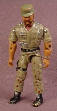 GI Joe The Corps Large Sarge Action Figure, 4 Inches Tall, Pre 1996 Lanard