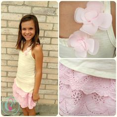 Tank & Pink Eyelet Skirt from Trish Scully Child