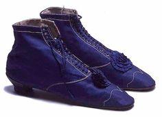 Women's evening boots, 1865