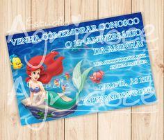 Convite Virtual A Pequena Sereia