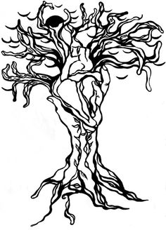 tree drawing with roots. tree roots drawing. dec; tree