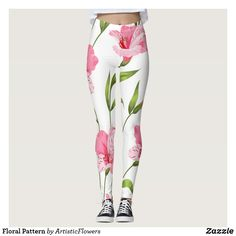 Shop Floral Pattern Leggings created by ArtisticFlowers. Flower Patterns, Flower Designs, Pattern Leggings, Different Flowers, Leggings Fashion, Dressmaking, Cool T Shirts, Pretty In Pink, Pink Flowers
