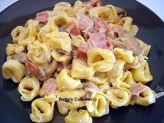 Betty's Cuisine: Τορτελίνια με μπέικον και μανιτάρια