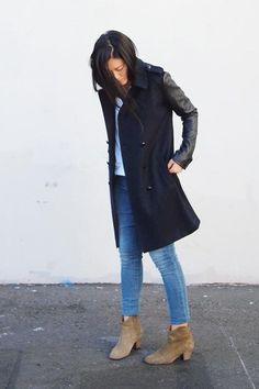 Great coat & Isabel Marant Booties