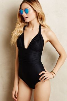 Lenny Niemeyer Noir Maillot - anthropologie.com