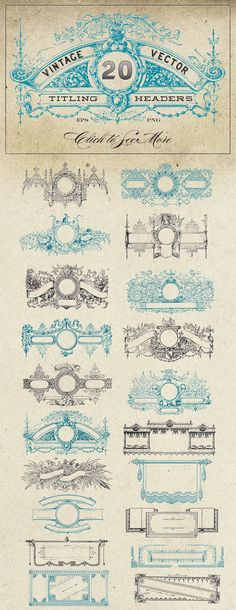 Vintage Vector Titling Headers by Eclectic Anthology on Creative Market