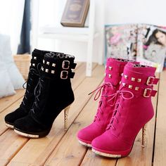 # Cute heel booties