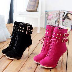 # Cute heel booties