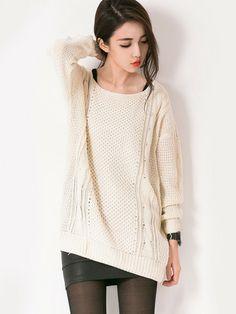 Crochet Back Sweater $26.99