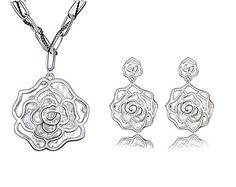 KALIS Plainum-plated Alloy Clear Peony Flower Pendant Necklace And Earrings Austria Crystal Charm Jewelry Set High Quality Gurantee KALIS http://www.amazon.com/dp/B00YOFXQBW/ref=cm_sw_r_pi_dp_X9KLvb1KXNBN7
