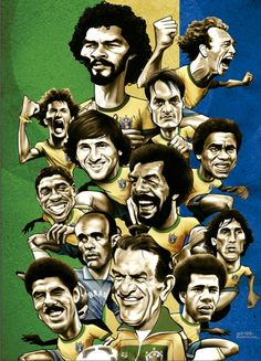 Great Brazil national team tribute by Gonza Rodriguez. #socrates,#falcao,#GonzaRodriguez,#cerezo,#zico.#junior,#mundial,#1982