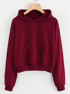 Shein Hooded Drawstring Kangaroo Pocket Sweatshirt - Sweat Shirt - Ideas of Sweat Shirt - Shop Hooded Drawstring Kangaroo Pocket Sweatshirt online. SheIn offers Hooded Drawstring Kangaroo Pocket Sweatshirt & more to fit your fashionable needs. Hoodie Sweatshirts, Sweatshirts Online, Sweatshirt Outfit, Baskets Louis Vuitton, Cool Hoodies, Sweat Shirt, Daily Fashion, Cute Outfits, Stylish Outfits