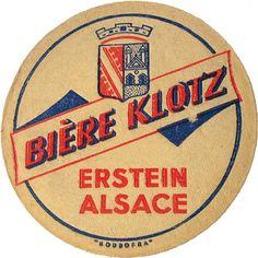 Sous-bock de la brasserie Klotz – Erstein