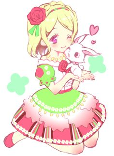 Pripara - Fuwari the bunny looks like Ruby from Jewelpet- or is it her?