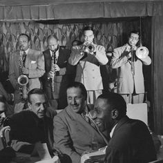Portrait of Ben Webster, Eddie (Emmanuel) Barefield, Buck Clayton, Benny Morton, Joe Marsala, and Cozy Cole, Famous Door, New York, N.Y., ca. Oct. 1947 Photograph by William Gottlieb. Courtesy of the Library of Congress, Washington, D.C. Featured in JAZZ: The Smithsonian Anthology
