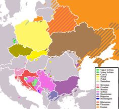 Present-day distribution of Slavic languages