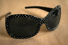 Use a toothpick to paint (nail polish works great) dots galore! Make a whole rainbow of sunglasses!