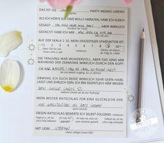 """**Ihr sucht eine Alternative zum klassischen """"weißen"""" Gästebuch für eure Hochzeit?** Während ein blanko Gästebuch oft übersehen bzw. gern umgangen wird, weil die Gäste aus dem Stehgreif nicht so..."""