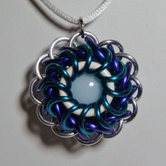 Whirlybird Chainmaille Pendant - Pacific