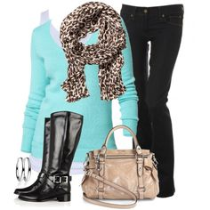 Love the turquoise with ANIMAL print - can always add a little cheetah print