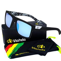 Viahda 2016 New Brand Squared Sunglasses The DIRECTOR Outdoor Glasses Men Sport Designer Mormaii Sunglass gafas de sol With Box
