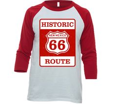 Historic Route 66 New Mexico Sign Raglan T Shirt Historic Route 66, New Mexico, T Shirt, Shopping, Tops, Supreme T Shirt, Tee Shirt, Tee