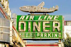 Air Line Diner, Astoria, Queens, New York vintage retro sign