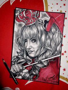 Cosplayer Daisy T. Tecnica: carboncino grasso Lyra,matita rossa Faber Castell,Foglio Fabriano liscio