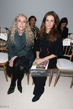 Franca Sozzani and Livia Firth attend the Giambattista Valli show as part of Paris Fashion Week Haute Couture Spring/Summer 2014 on January 20, 2014 in Paris, France.