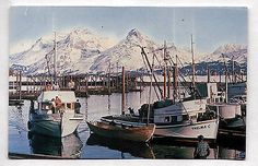 Vintage #postcard #valdez alaska #small harbor for fishing/commercial boats 1968,  View more on the LINK: http://www.zeppy.io/product/gb/2/121895080725/