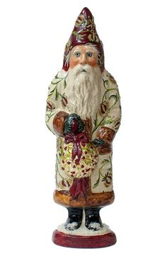 Vaillancourt 'Santa in Brocade with Kissing Ball' Figurine available at #Nordstrom