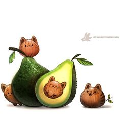 #Avocado + #Cats = #Avocatos !! How fantastic is this #illustration by @piperdraws ?! Her page is absolutely full of creative and inspiring work and we really love the rad character design on her portfolio and website. Check out Piper's page for more fantastic art. Viva la Creativity!