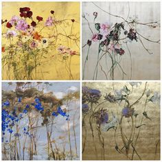 The art, home and studio of French artist, Claire Basler is the embodiment of the word 'dreamy', so much so that I think I migh. Botanical Art, Botanical Illustration, Illustration Art, Clare Basler, Contemporary Artists, Modern Art, Chinese Flowers, Feuille D'or, Floral Illustrations