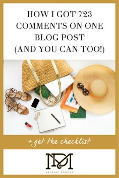Melanie Duncan's strategy for getting crazy comments on her blog post! #blogging