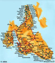 Travel To Kefalonia   KEFALONIA MAP - YELLOWhttp://www.hri.org/infoxenios/english/ionian ...