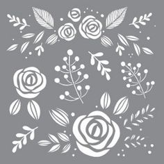 DecoArt Stencils have pre-cut designs on flexible plastic that simply need to be painted onto any project. Base coat the project, position the stencil and apply paint. These durable stencils can be used over and over. Stencil Fabric, Stencil Patterns, Stencil Designs, Chalk Pencil, Letter Stencils, Stencil Stickers, Repeating Patterns, Background Patterns, Whimsical