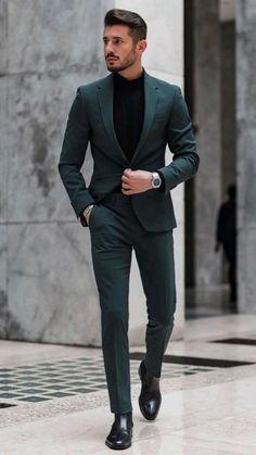Mens Casual Dress Outfits, Blazer Outfits Men, Dress Suits For Men, Formal Men Outfit, Mens Fashion Blazer, Stylish Mens Outfits, Men's Suits, Cool Mens Fashion, Suit For Men