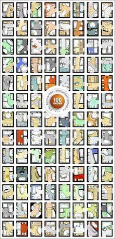 Bathroom Renovation before and after : 100 Bäder T Bathroom Floor Plans, Bathroom Flooring, Bathroom Layout Plans, Bathroom Interior, Interior Design Living Room, Toilet Plan, Rustic Shower, Bathroom Renovations, Bathroom Inspiration