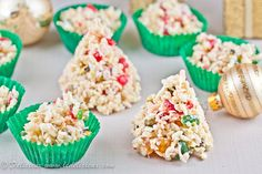 """""""White Christmas Crackles"""" -- this is an Australian recipe calling for """"rice bubbles,"""" but I'm pretty sure that they're Rice Krispies, or could be..."""