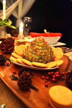Holiday parties made easy with this Pinecone Cheese Spread recipe