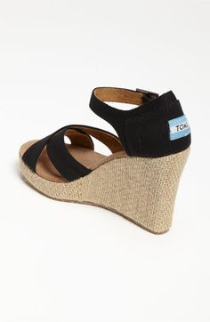 cute from any direction! Tom's wedge sandal