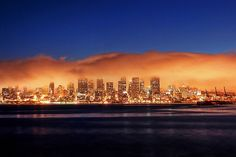 Seattle Engulfed in a Glowing Blanket of Fog. by David M Hogan - Now on Google+ too