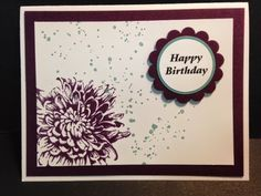 Blooming with Hope, Birthday Card, Stampin' Up!, Rubber Stamping, Handmade Cards