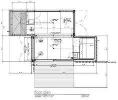 Studio 320 floorplan - 2 container off-grid home - Budget: $24,000