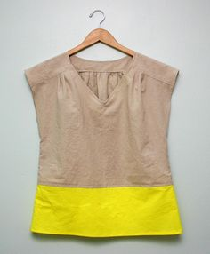 Color block top with Simplicity 1969.