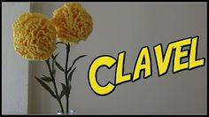 Flor tejida a crochet # 4 clavel tejido a crochet - YouTube
