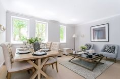 We absolutely loved putting together this weathered oak scheme ready for this property to go on the market. This Chelsea apartment looked so good that the new owners even purchased the furniture.