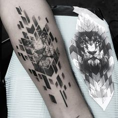 Leading Tattoo Magazine & Database, Featuring best tattoo Designs & Ideas from around the world. At TattooViral we connects the worlds best tattoo artists and fans to find the Best Tattoo Designs, Quotes, Inspirations and Ideas for women, men and couples. Leo Tattoos, Maori Tattoos, Body Art Tattoos, Small Tattoos, Tattoos For Guys, Geometric Lion Tattoo, Abstract Tattoo Designs, Geometric Tattoo Design, Tattoo Abstract