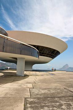 MAC - Museu de Arte Contemporânea Niteroi / Contemporary Art Museum Niteroi, Rio de Janeiro, designed by Oscar Niemeyer